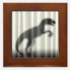 Raptor Silhouette Framed Tile