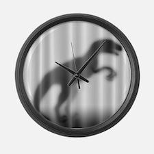 Raptor Silhouette Large Wall Clock