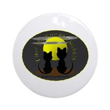 I LOVE YOU TO THE MOON AND BACK Ornament (Round)