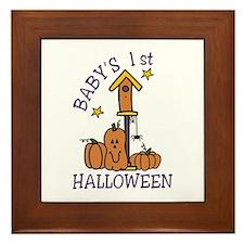 Babys 1st Halloween Framed Tile