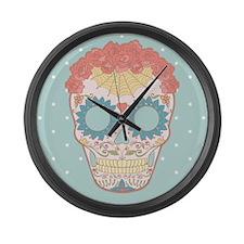Sugar Skull Large Wall Clock