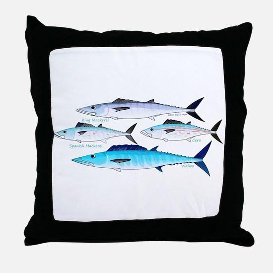 4 Atlantic Mackerels Throw Pillow