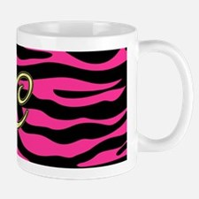 HOT PINK ZEBRA GOLD C Mugs