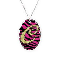 HOT PINK ZEBRA GOLD C Necklace