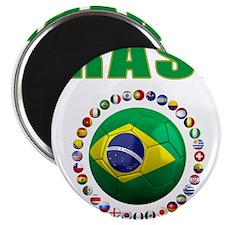 Brasil Futebol 2014 Magnets
