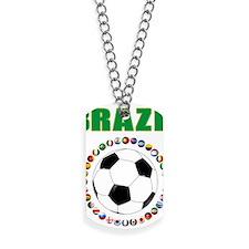 Brazil Soccer 2014 Dog Tags