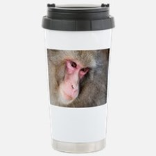 snow monkey face Travel Mug
