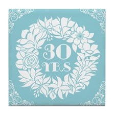 30th Anniversary Wreath Tile Coaster