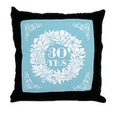 30th Anniversary Wreath Throw Pillow