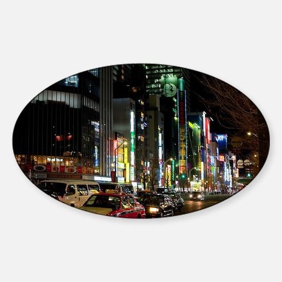 tokyo streets Sticker (Oval)