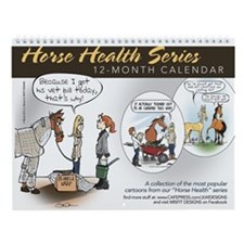 Horse Health Cartoons Wall Calendar