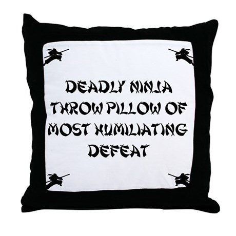 Deadly Ninja Fighting Pillow