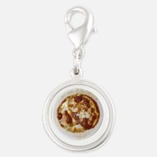French Onion Soup Silver Round Charm