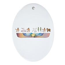 Lagotto Hieroglyphs Oval Ornament