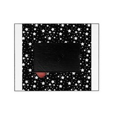 Pencil on Black and White Stars Picture Frame