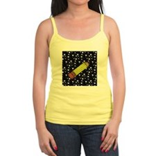 Pencil on Black and White Stars Tank Top