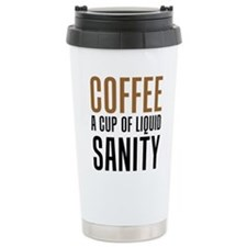 Coffee Liquid Sanity Travel Mug