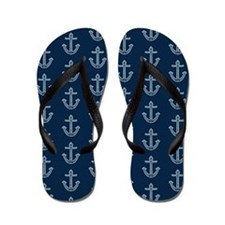 Nautical Anchors Flip Flops