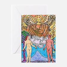 Tarot Lovers Waite Greeting Card