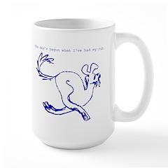 Fun Run Dog Large Mug
