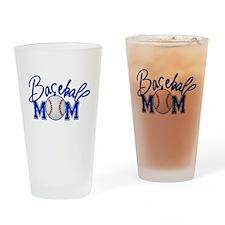 Baseball Mom Drinking Glass