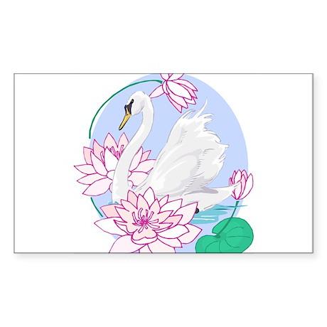 swan-lily Sticker