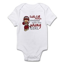 Sickle Cell Anemia CombatGirl1 Infant Bodysuit
