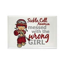 Sickle Cell Anemia CombatGirl1 Rectangle Magnet