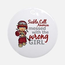 Sickle Cell Anemia CombatGirl1 Ornament (Round)