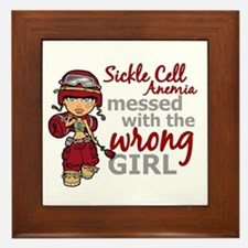 Sickle Cell Anemia CombatGirl1 Framed Tile