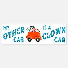 Clown Car Bumper Car Car Sticker