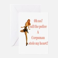 oh no corpsman Greeting Cards (Pk of 10)