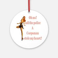 oh no corpsman Ornament (Round)