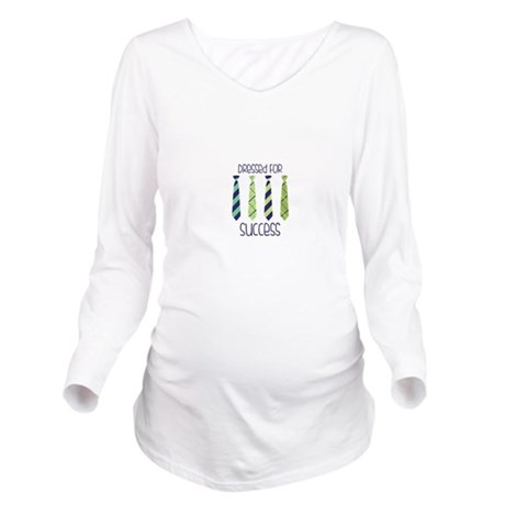 Dressed For Success Long Sleeve Maternity T-Shirt