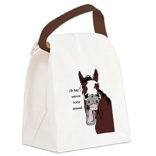 Oh hay wanna horse around fun Quote Horse Cartoon