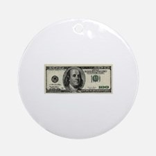 100 Dollar Bill Ornament (Round)