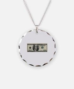 100 Dollar Bill Necklace