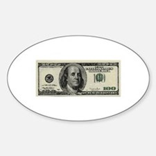 100 Dollar Bill Decal
