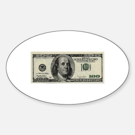 100 Dollar Bill Decal