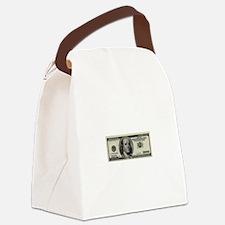 100 Dollar Bill Canvas Lunch Bag