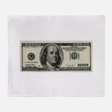 100 Dollar Bill Throw Blanket