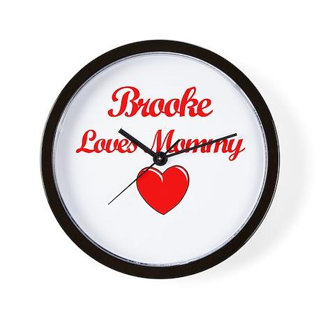 Brooke Loves Mommy Wall Clock