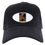 Chantecler Rooster and Hen Black Cap