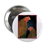 Chantecler Rooster and Hen Button