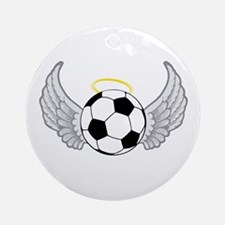 Soccer Angel Ornament (Round)