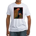 Chantecler Rooster and Hen Fitted T-Shirt