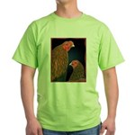 Chantecler Rooster and Hen Green T-Shirt