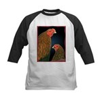 Chantecler Rooster and Hen Kids Baseball Jersey