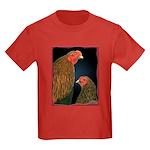Chantecler Rooster and Hen Kids Dark T-Shirt