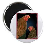 Chantecler Rooster and Hen Magnet